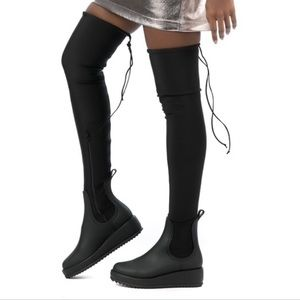 Jeffery Campbell thigh high rain boots